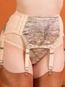 1940's Map Garter Belt - size 8 + 14 in stock!