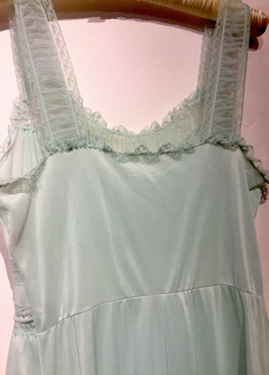 Gotham Gold Stripe Mint Nightgown Size M #036