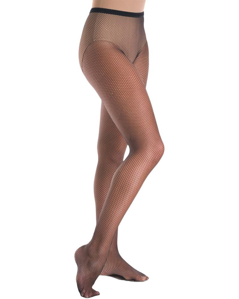 Cabaret Backseam Footed Dance Quality Fishnet Tights - Black + Beige