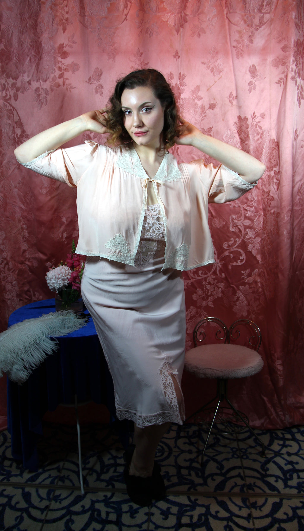 Peaches n' Cream Bed Jacket M/L/XL #100