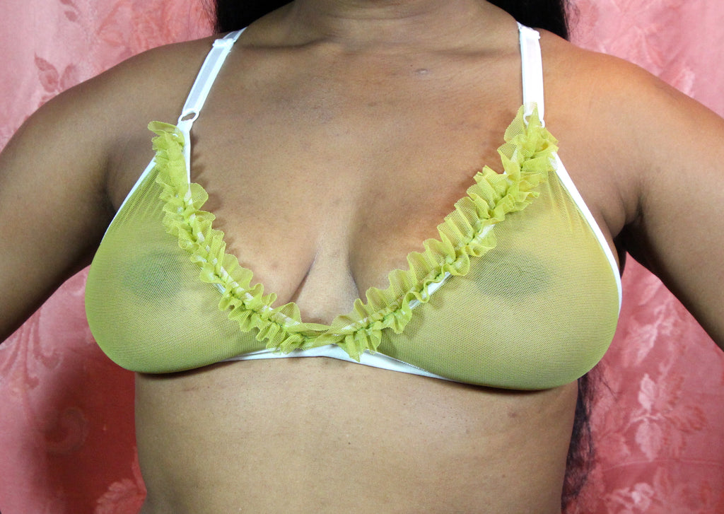 WLL for Gigi: Juicy Pear Ruffle Bralette