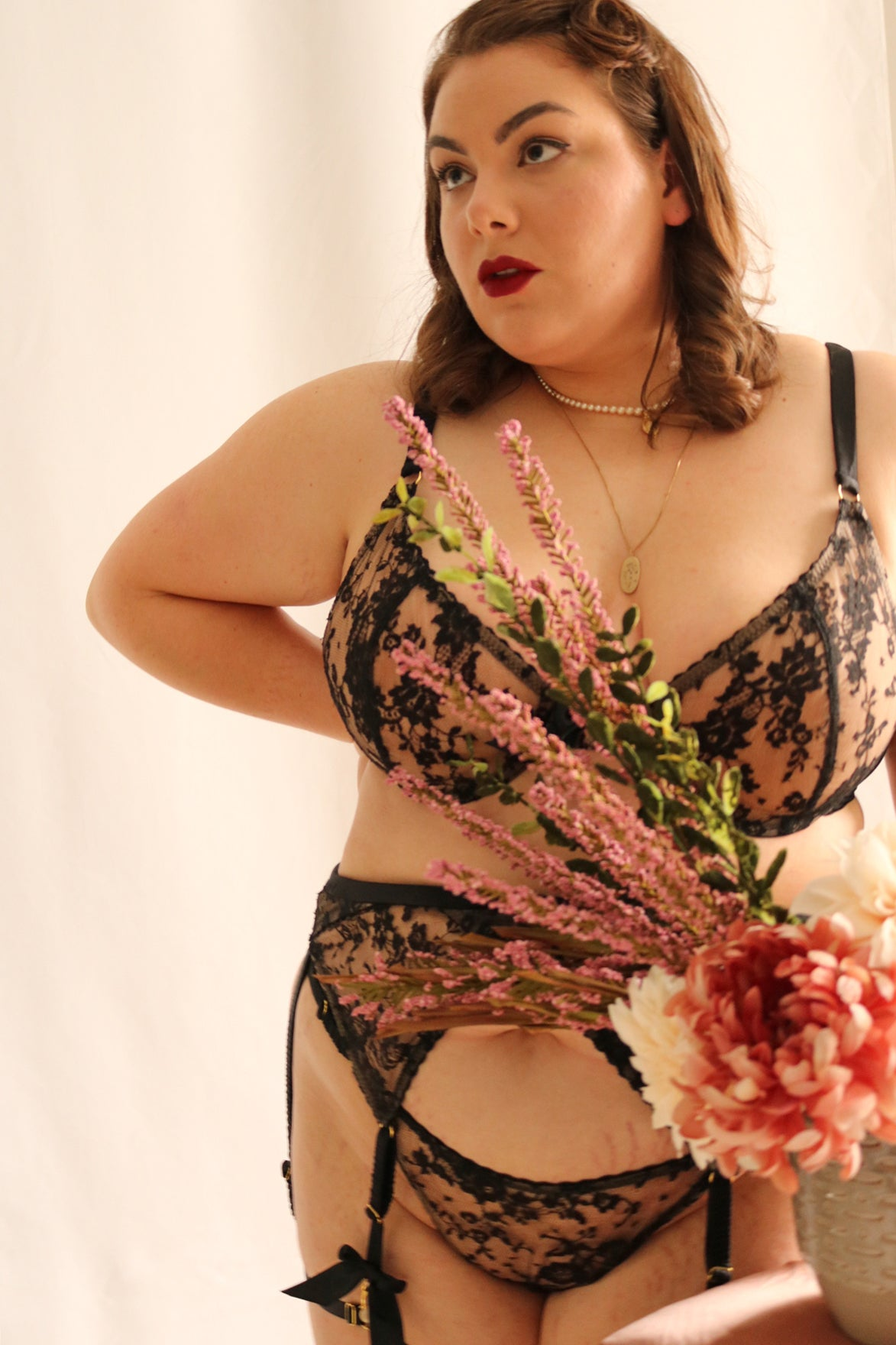 Bettie Six-Strap Belt by Queen Of Suburbia - S-XL left!