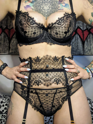 Dita Von Teese Vedette Bikini Brief  in Black - sizes XS - XL