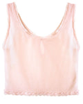 Sheer Crop Cami in Pale Pink - XS-3X