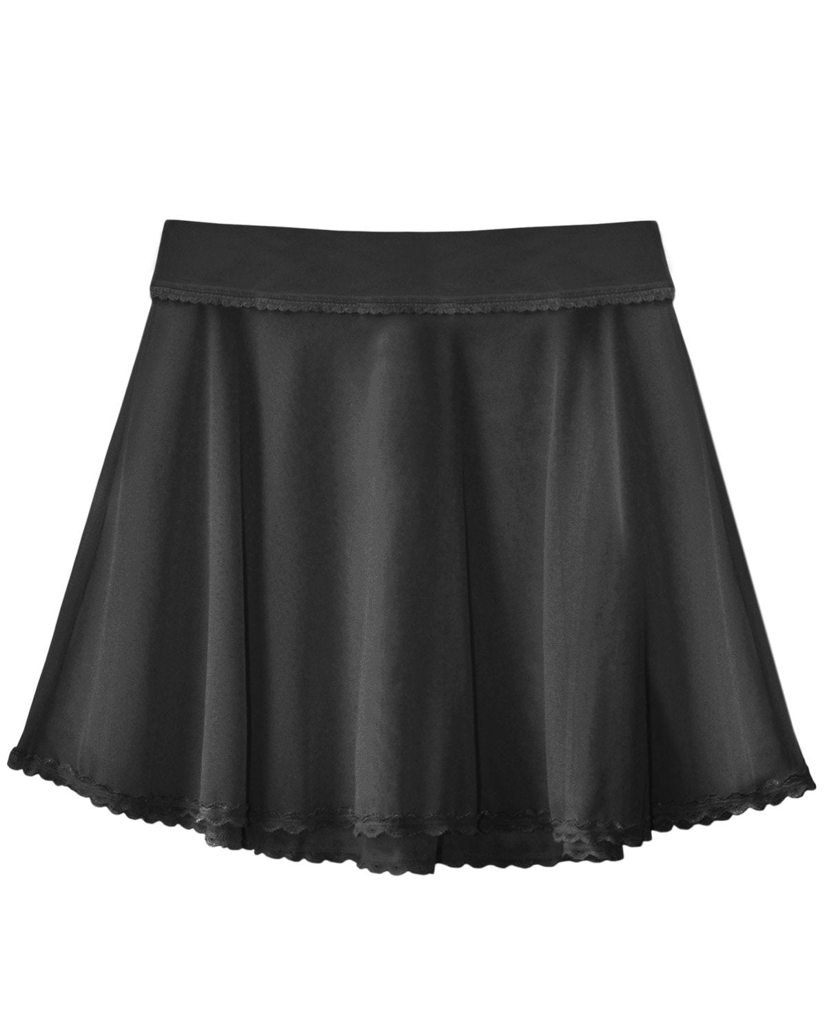 Sheer Flounce Skirt in Black - XS-XL left!