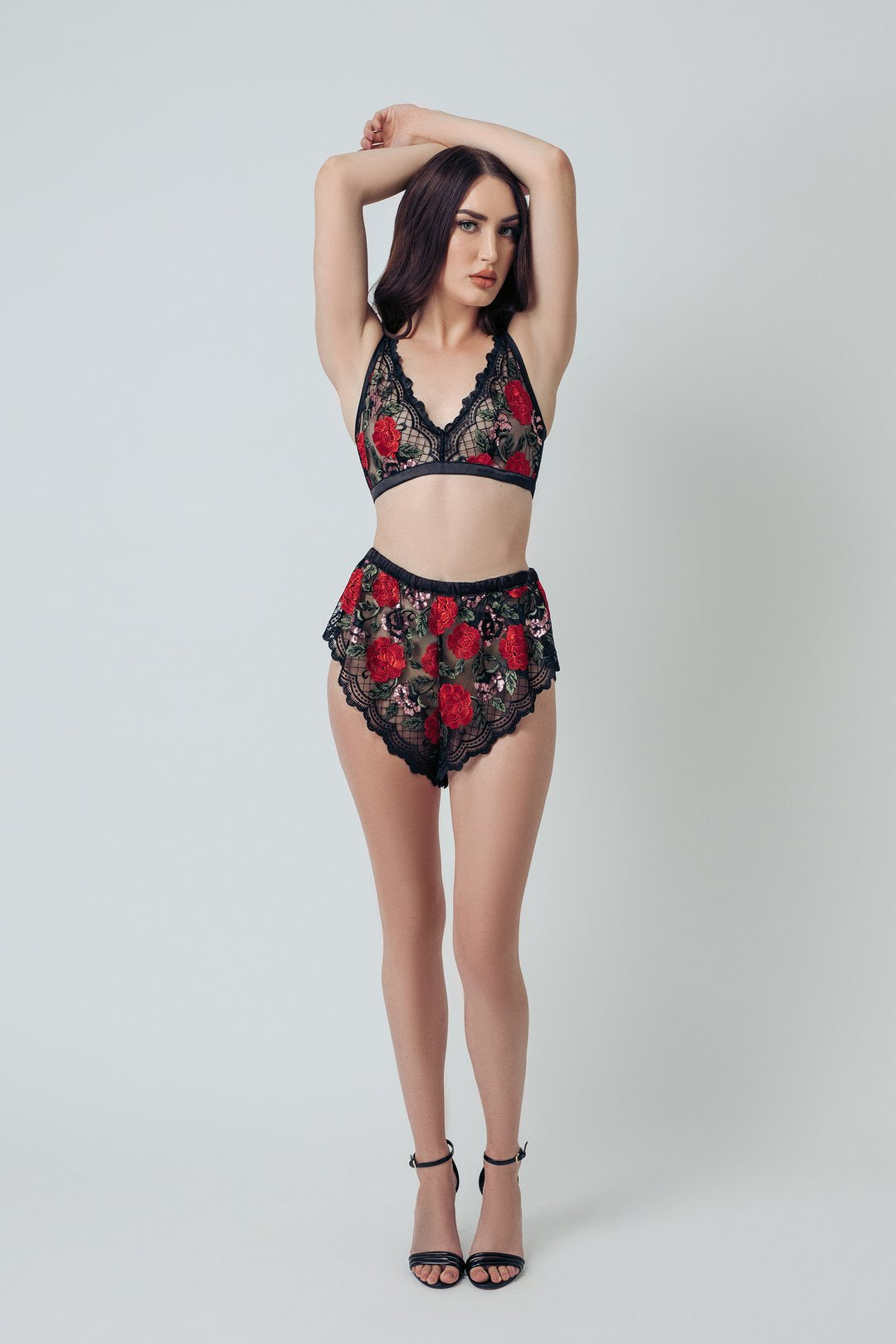 Wild Roses Embroidered Bralette - sizes S - XXXL