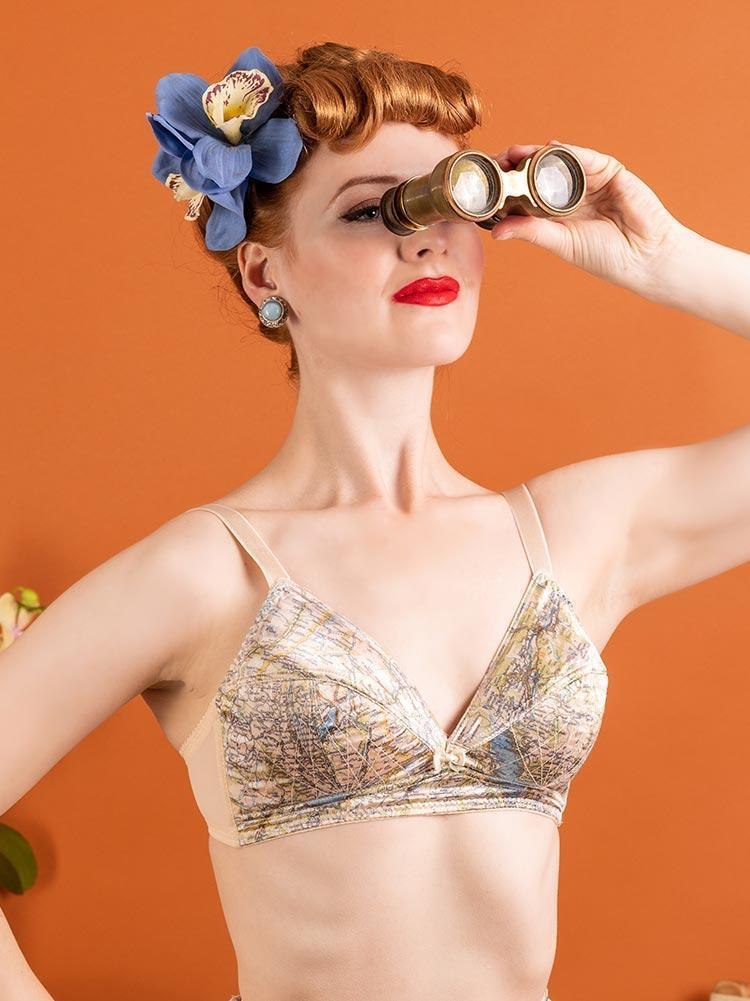 1940's Map Bra - Available by Special Order