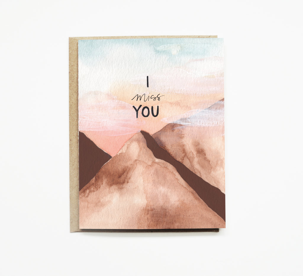 Mountain Mist Miss You Card