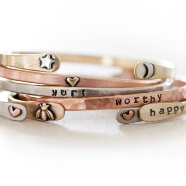 Reverse Power Cuff - Be Happy
