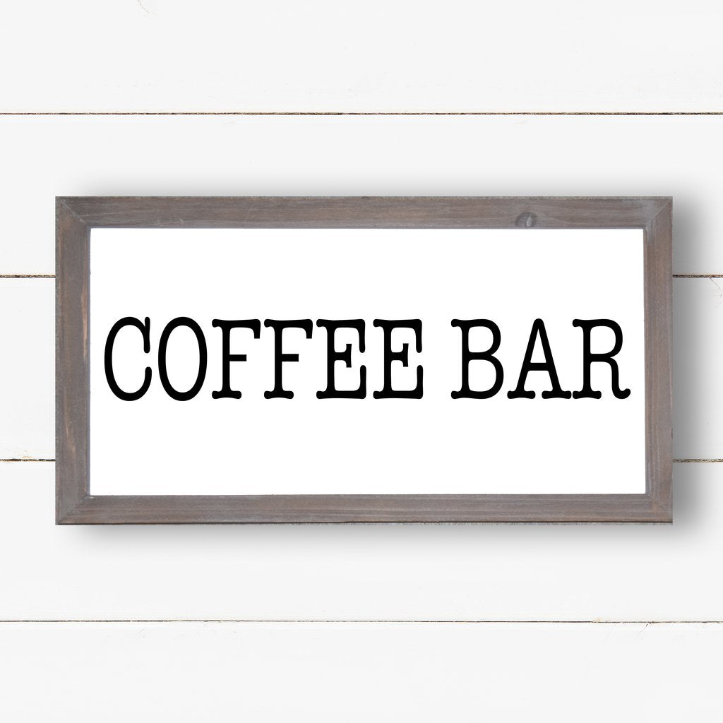 Coffee Bar Wooden Sign 9X17