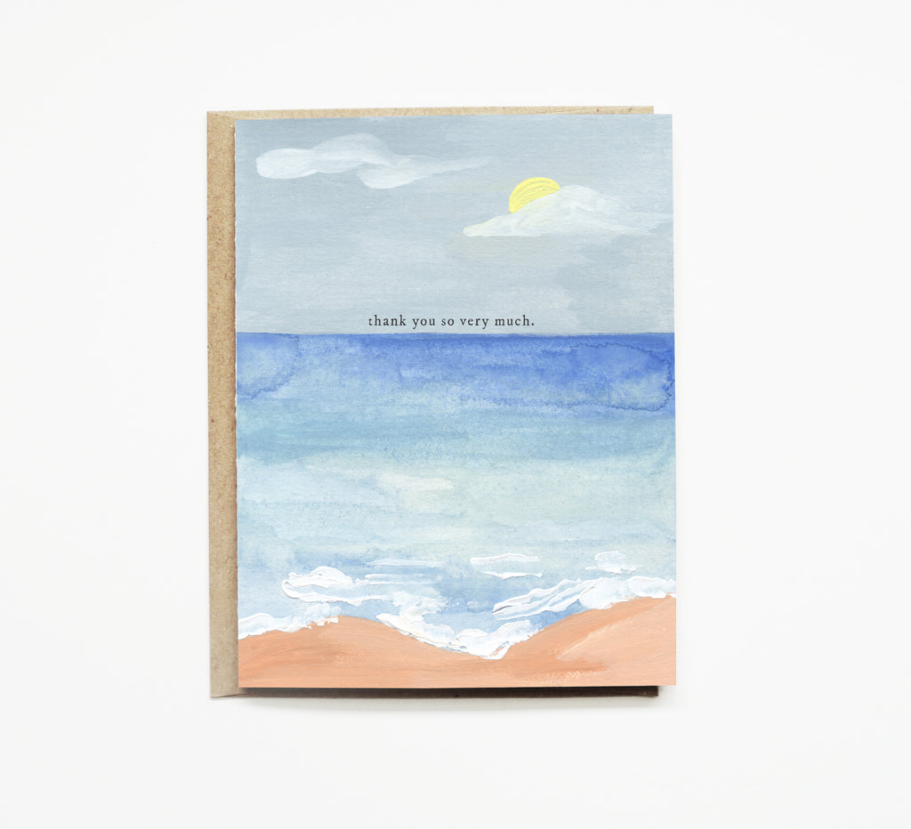 Coastal Thank you Card