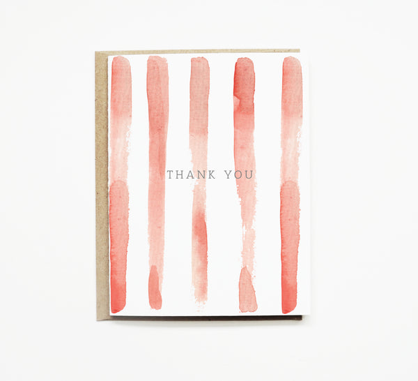 Red Stripe Thank you Card