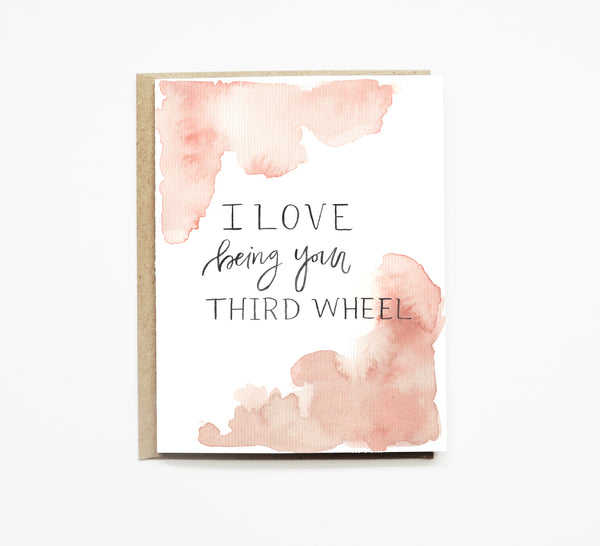 Third Wheel Wedding Card