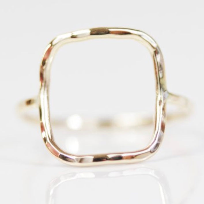 Open Square Simple Ring
