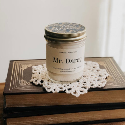 Mr. Darcy Inspo Bookish Candle