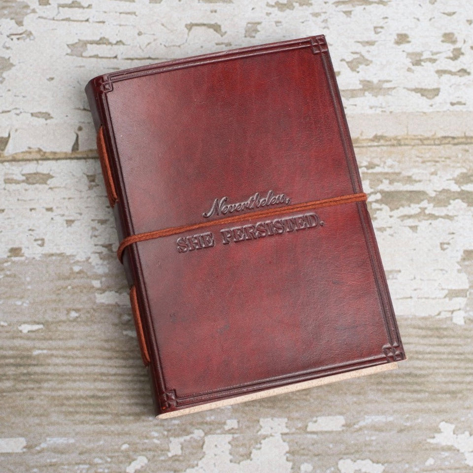 She Persisted Handmade Leather Journal