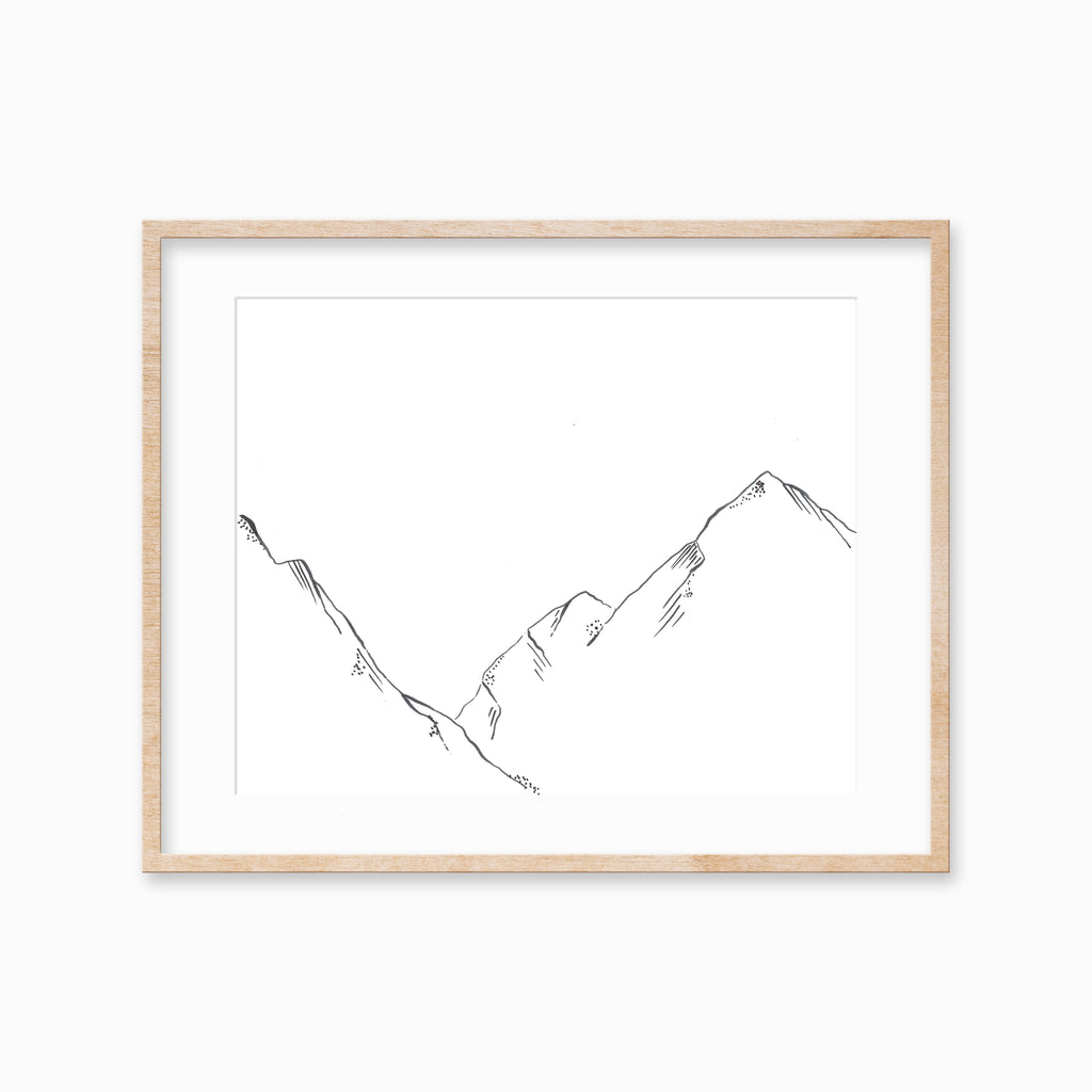 Minimalist Mountain Art Print
