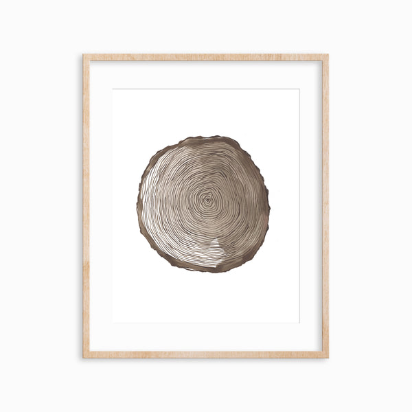 Wood Rings Art Print