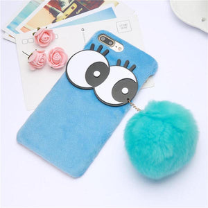 xp-Dill Kid Favorite Fashion Soft Plush Ball Chain DIY Case