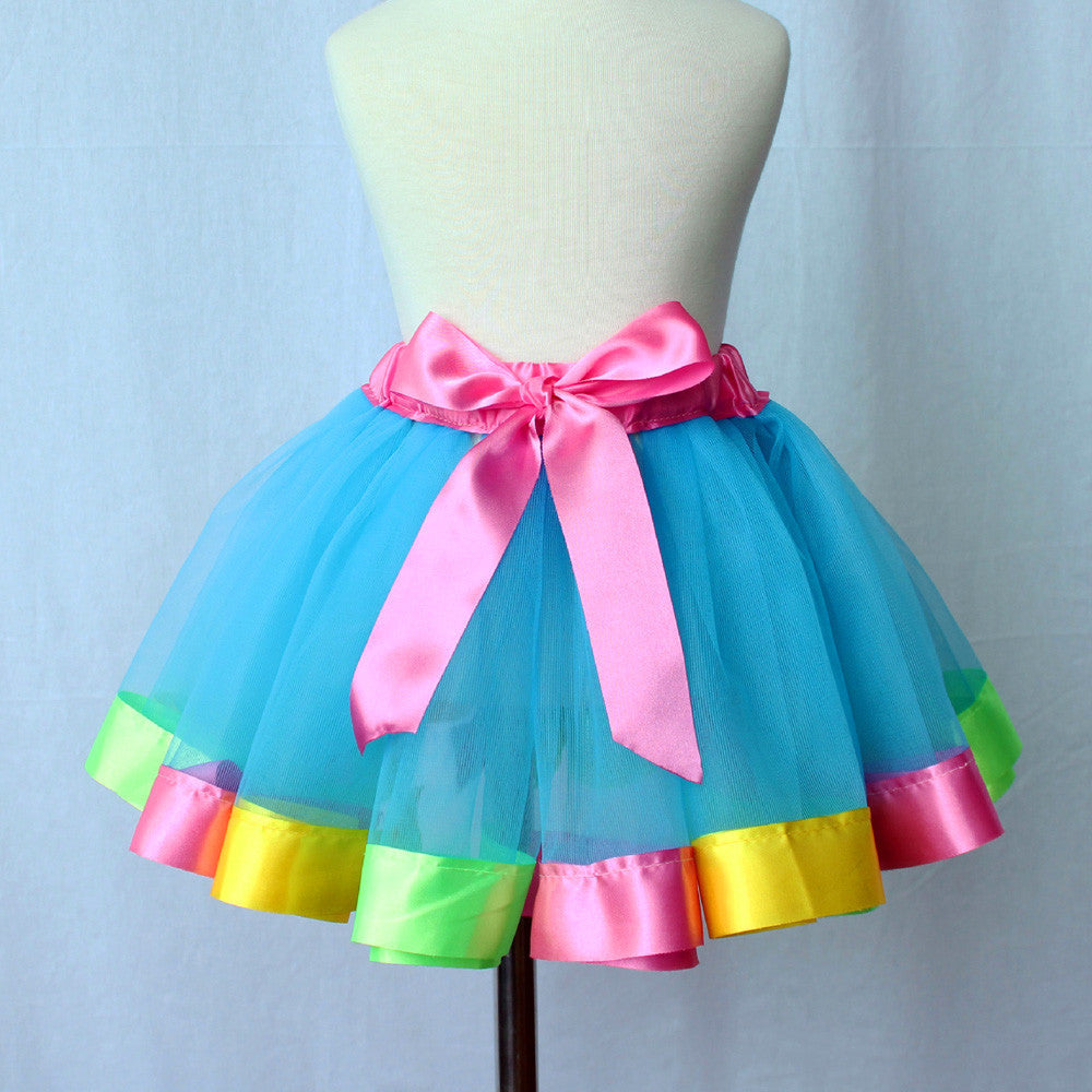 zxut-Dill Kids Live Tutu Girls/Kids Petticoat Rainbow