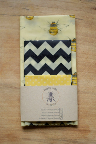 Medium Kitchen Pack Beeswax Wraps