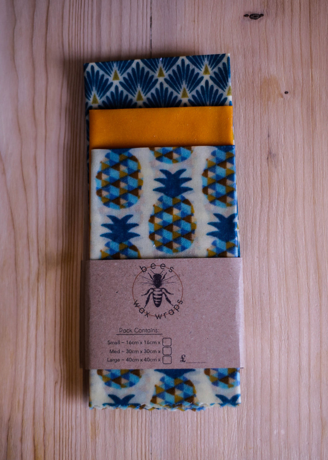 Beeswax Wraps Cheese Pack