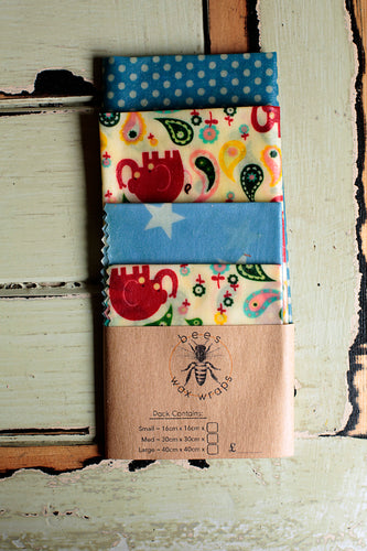 Beeswax Wrap Children's Lunch Pack