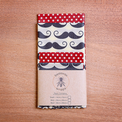 Gentleman's Lunch Pack Beeswax Wraps