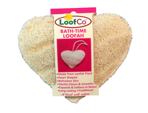 Heart Shaped Bath Time Loofah