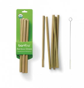 Bamboo Straws - Set of 6