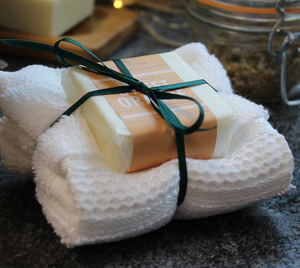 Sweet Orange Soap and Face Cloth Gift Set