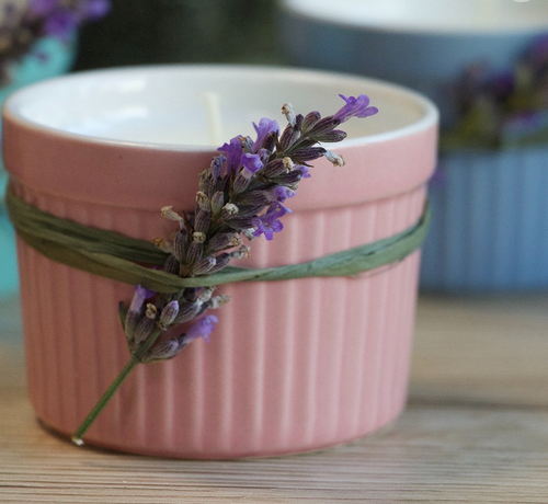 Soy Wax Candle in Earthenware Pot