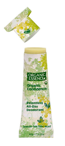 Organic Confidence Lemon, Tea Tree & Mint Deodorant