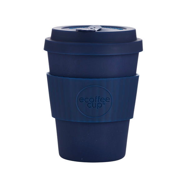Reusable coffee cup made from natural bamboo fibre – Ecoffee cup dark blue 340ml