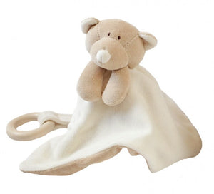 Comforter Teddy With Wooden Teething Ring