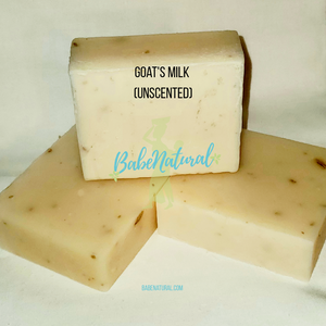 Natural Soap: Unscented Goat's Milk