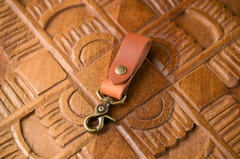 """Italian Leather""<br>Belt Fob"