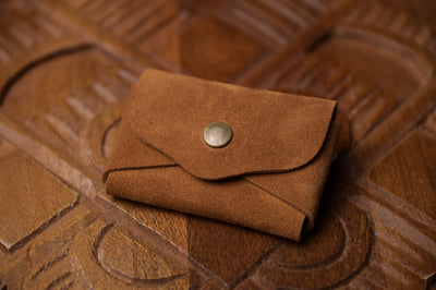 Suede Snap Wallet