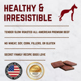 Healthy Gourmet Jerky Dog Square Treats (Beef) - 5 oz. Bag