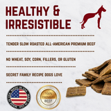 Healthy Gourmet Jerky Dog Square Treats (Beef) - 16 oz. Bag