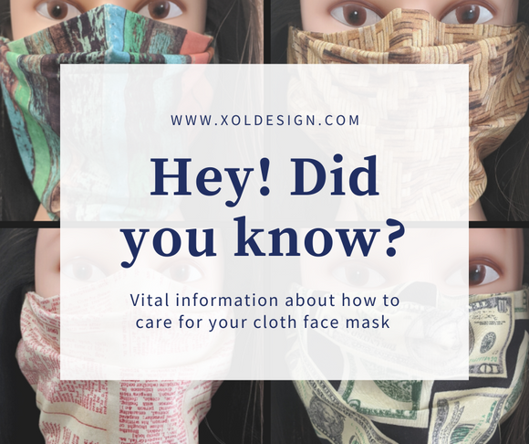 Vital Information about how to care for your cloth face mask