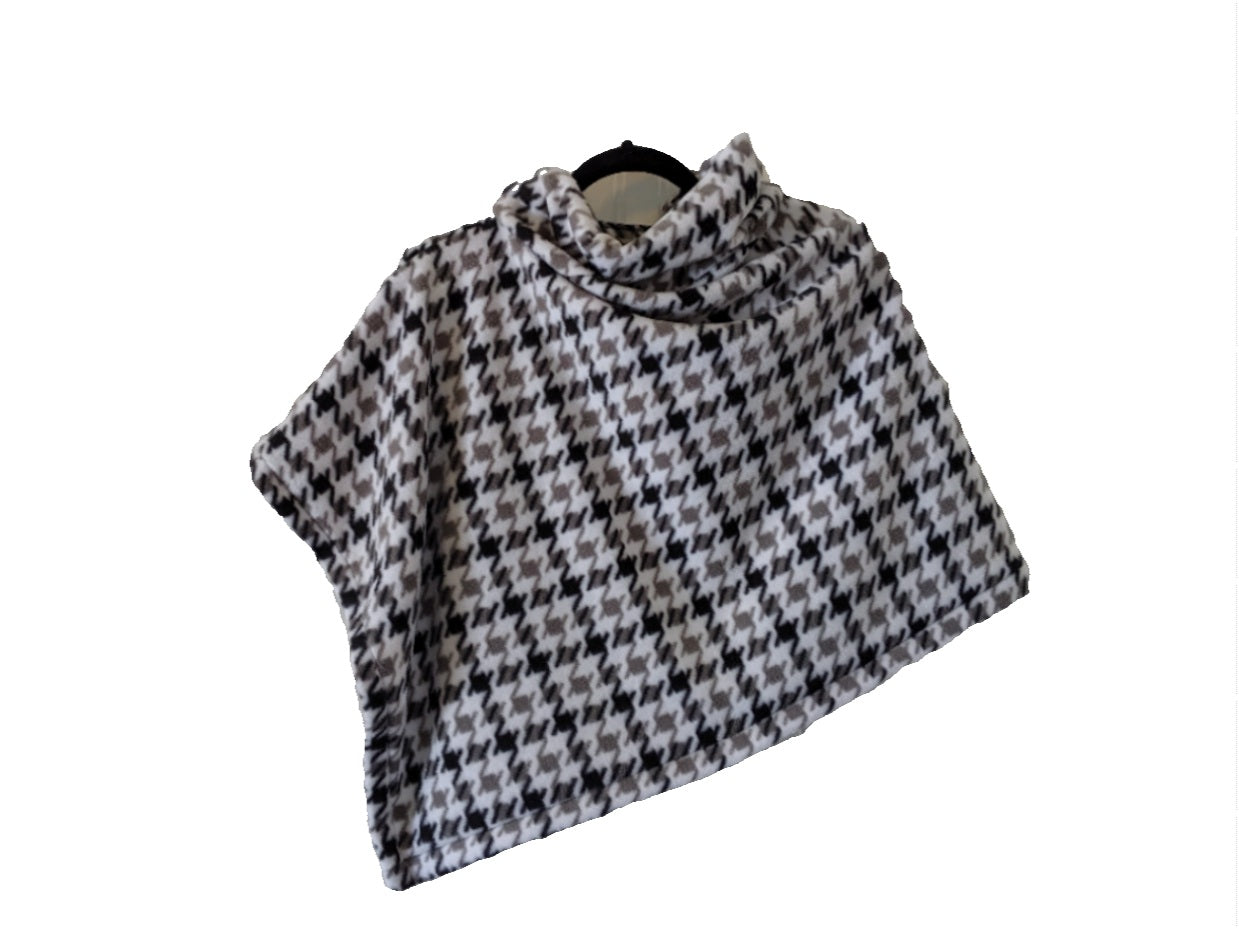 Winterport Wrap Fleece Poncho with Funnel Neck