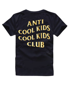Anti Cool Kids Tee - Gold Foil - 2 Colours