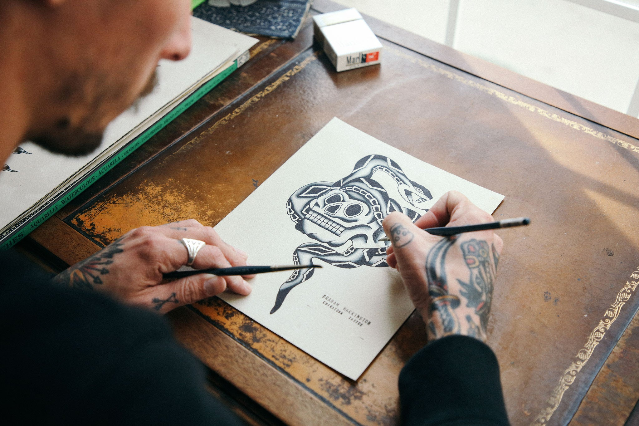 Tailored Union Artist Feature Graham Harrington Flash Art Drawing