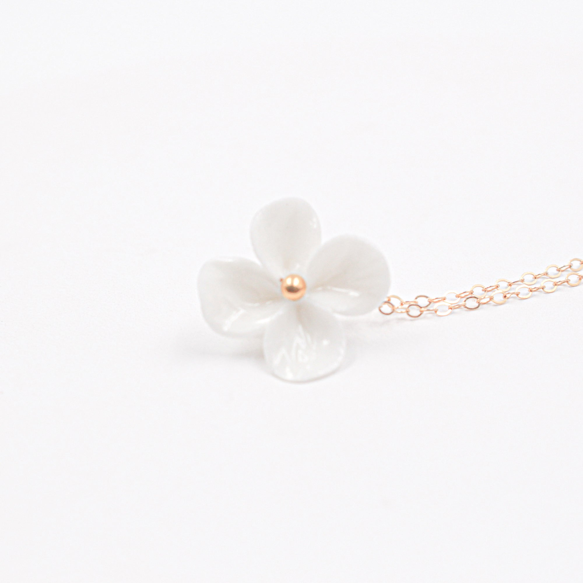 Porcelain Clover Necklace - Minimalist Jewelry by Alain Granell - Made in France