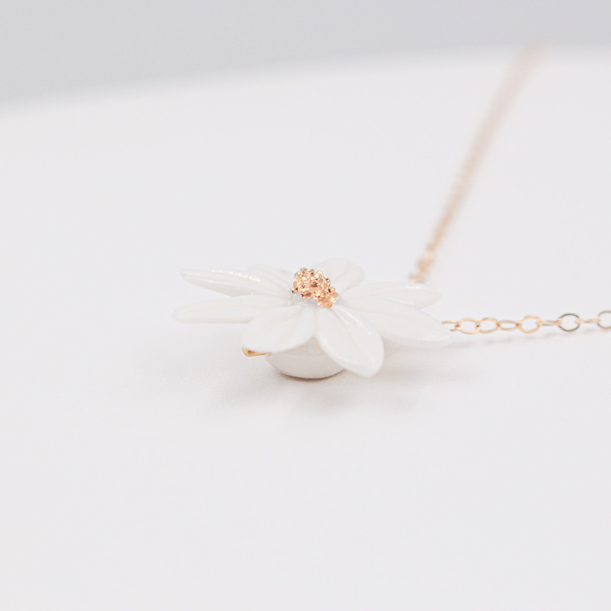 Daisy Porcelain Necklace - Minimalist Porcelain Jewelry by Alain Granell