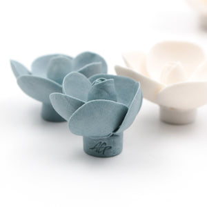 Wall Decor of Porcelain Bud Roses - Handmade Porcelain Flowers for Interior and Event Decoration - Made in France by Alain Granell – Home and Wall Decoration