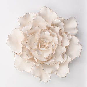 Golden Porcelain Peony- Handmade Porcelain Flower for Interior and Event Decoration - Made in France by Alain Granell – Home and Wall Decoration