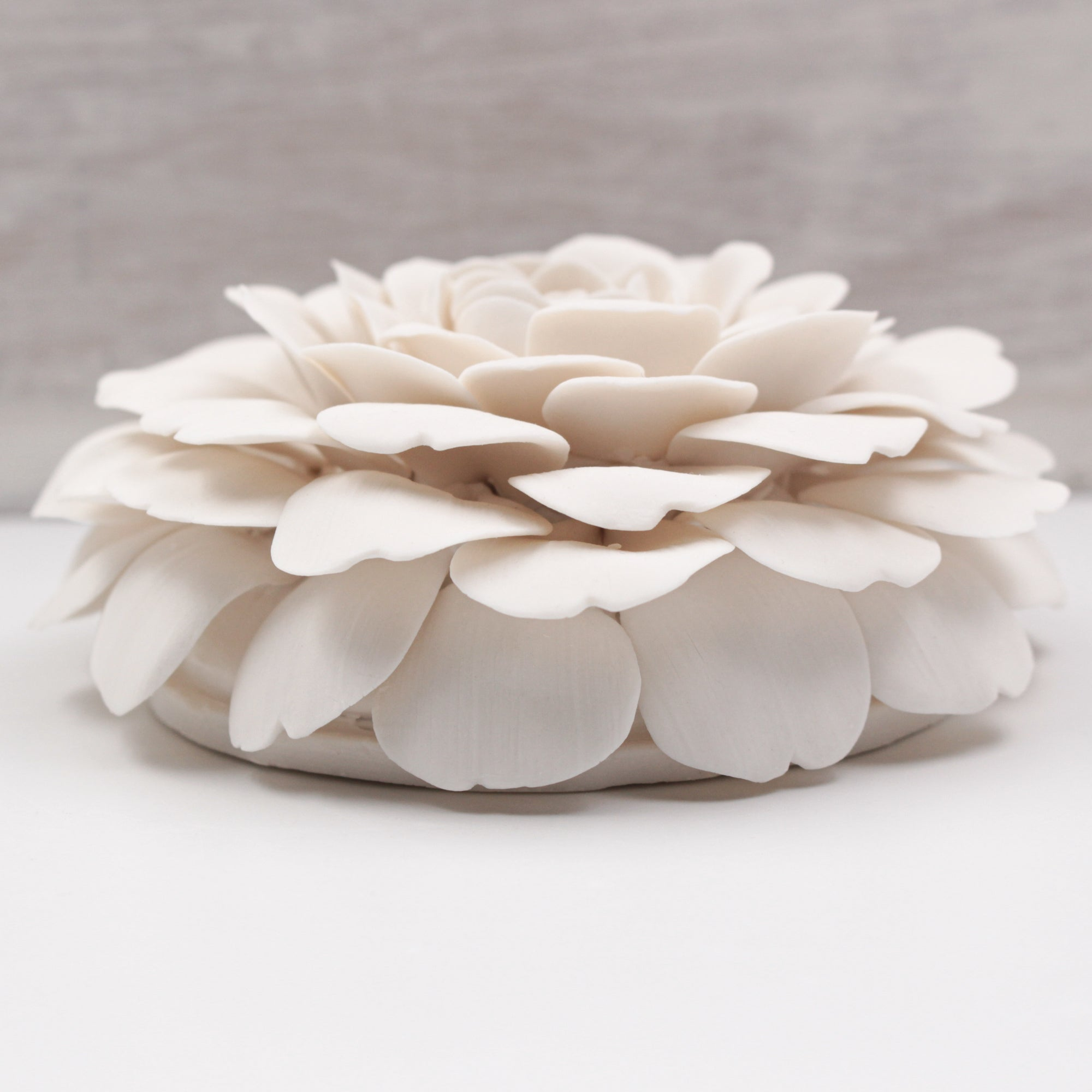 Large Porcelain Camellia - Handmade Porcelain Flower for Interior and Event Decoration - Made in France by Alain Granell