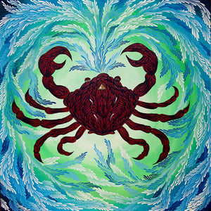 "Zodiac Series Original Oil Painting ""Cancer"""
